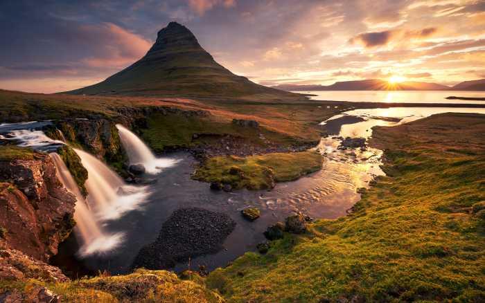 Digitaldrucktapete Guten Morgen auf Isländisch