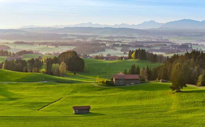 Digitaldrucktapete Paradiesisches Bayern