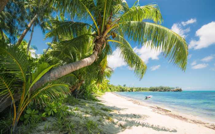 Digitaldrucktapete Fiji Dreams Boat