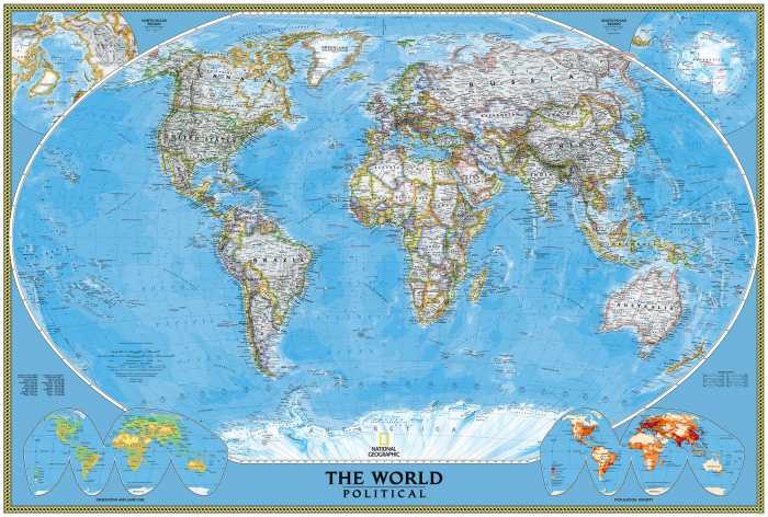 Fototapete The World Political