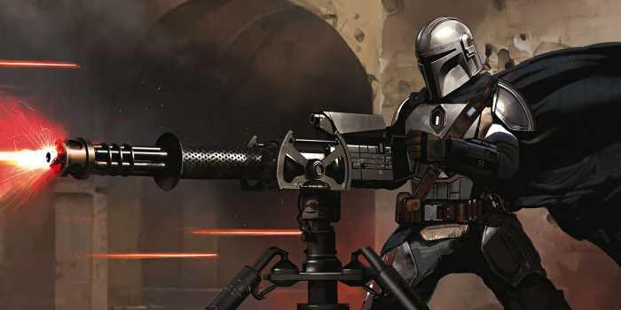 Digitaldrucktapete Star Wars The Mandalorian Blaster