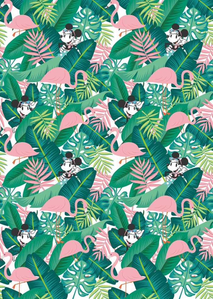 Digitaldrucktapete Minnie Tropical