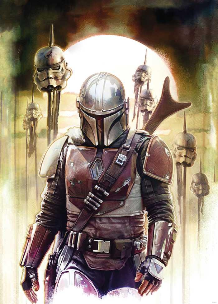 Digitaldrucktapete Star Wars The Mandalorian Big Impaler