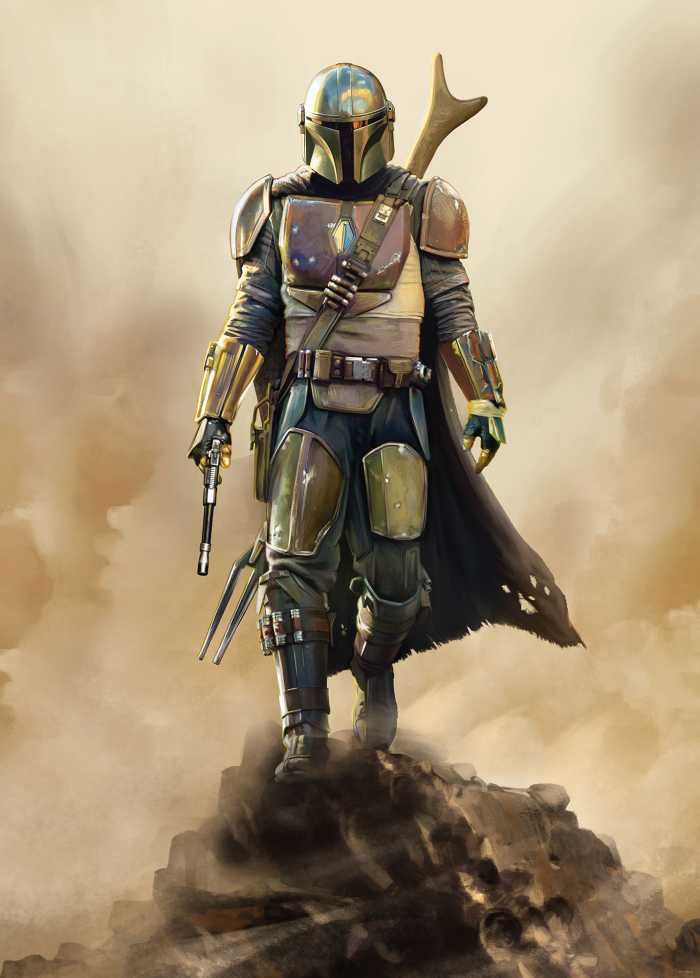 Digitaldrucktapete Star Wars The Mandalorian The Hunter