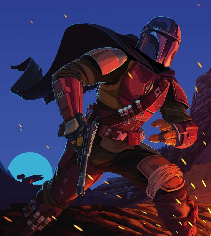 Digitaldrucktapete Star Wars The Mandalorian Big Ambush