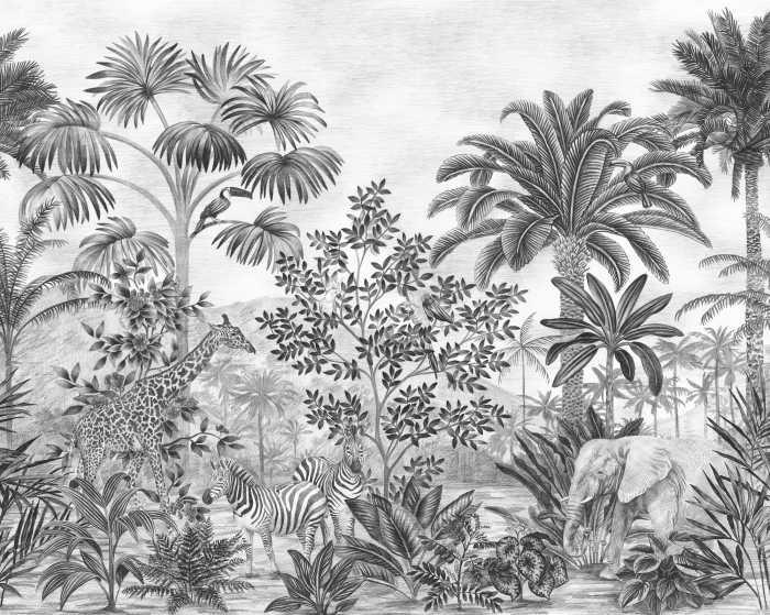 Digitaldrucktapete Jungle Evolution