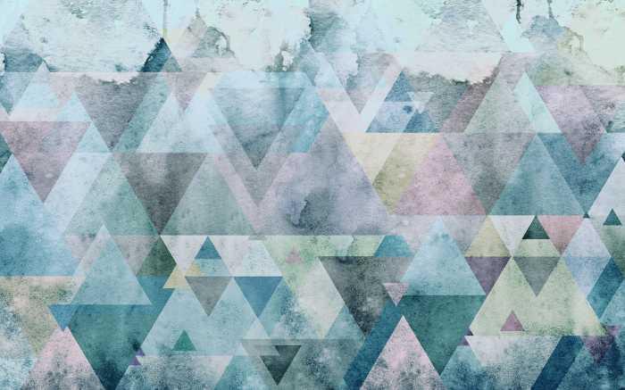 Digitaldrucktapete Triangles Blue