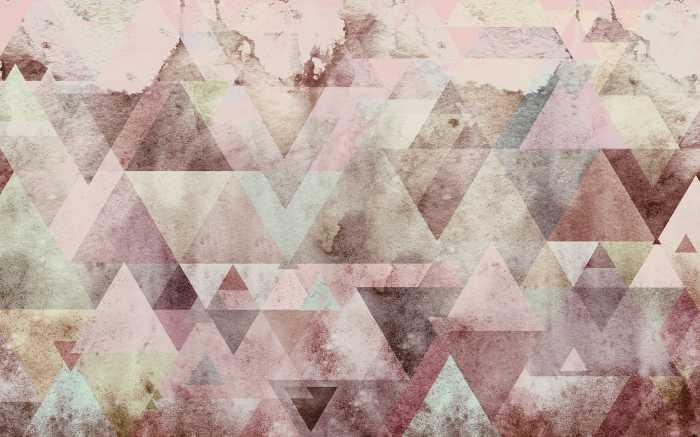 Digitaldrucktapete Triangles Red
