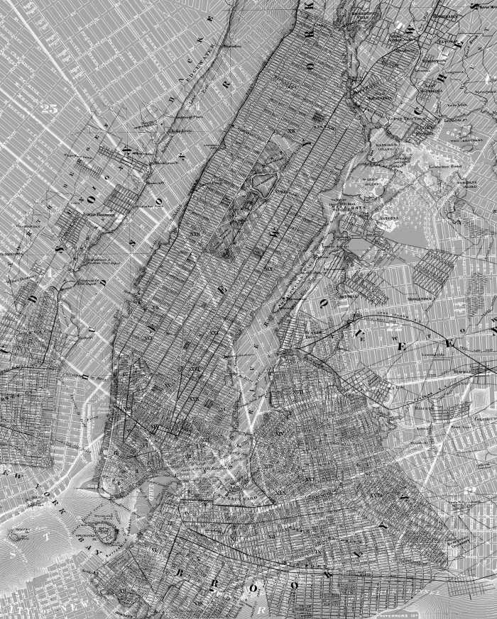 Digitaldrucktapete NYC Map