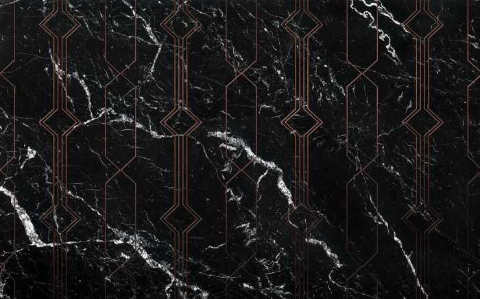 Digitaldrucktapete Marble Black