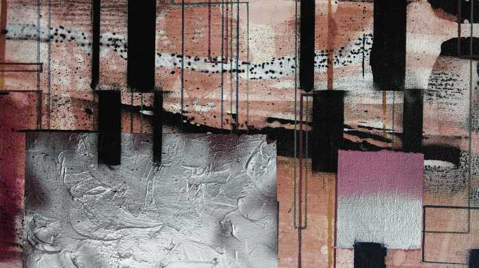 Digitaldrucktapete Squares Dropping
