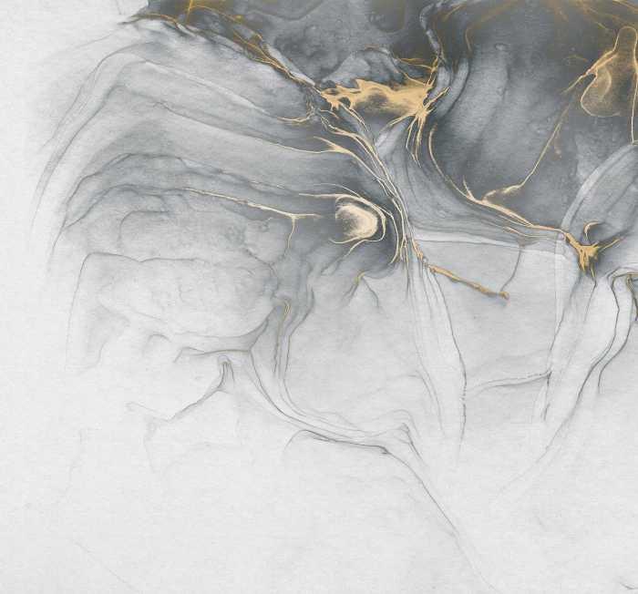 Digitaldrucktapete Ink Gold Fluid