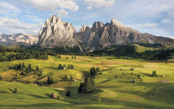 Digitaldrucktapete Alpen