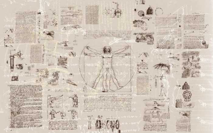 Digitaldrucktapete Da Vinci