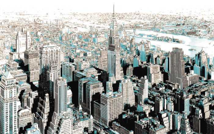 Digitaldrucktapete Gotham