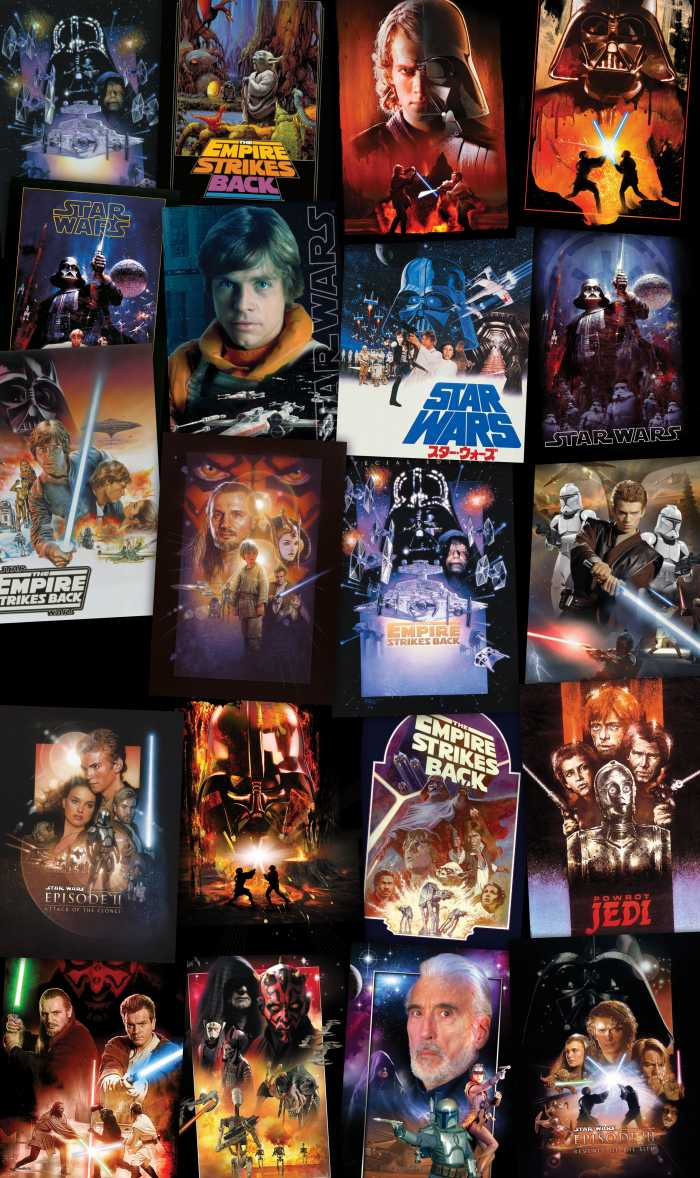 Panel Star Wars Posters Collage