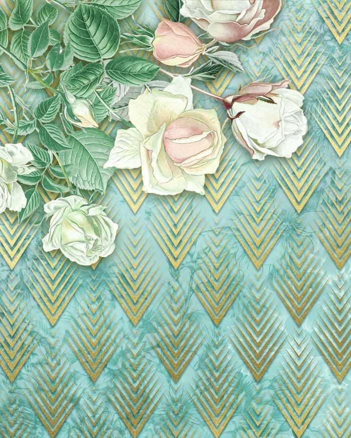 Digitaldrucktapete Rose Poem