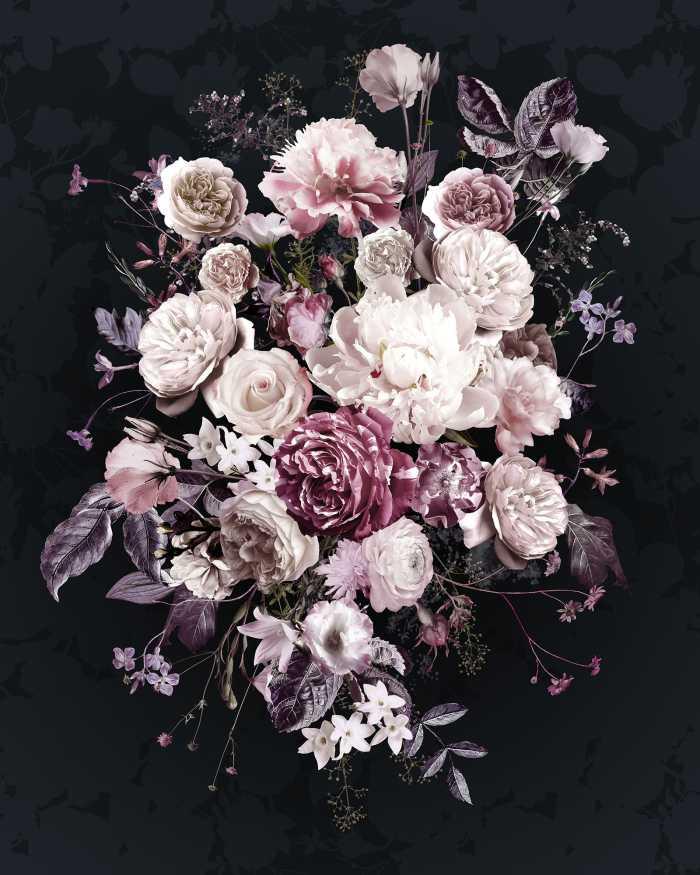 Digitaldrucktapete Bouquet Noir