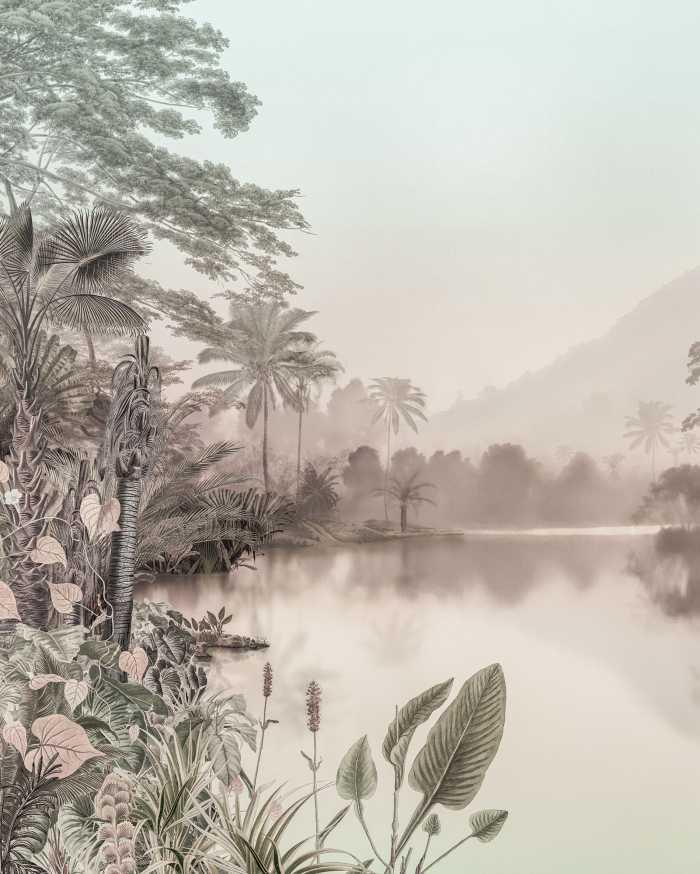 Digitaldrucktapete Lac des Palmiers