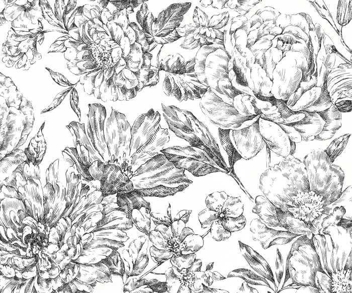 Digitaldrucktapete Flowerbed
