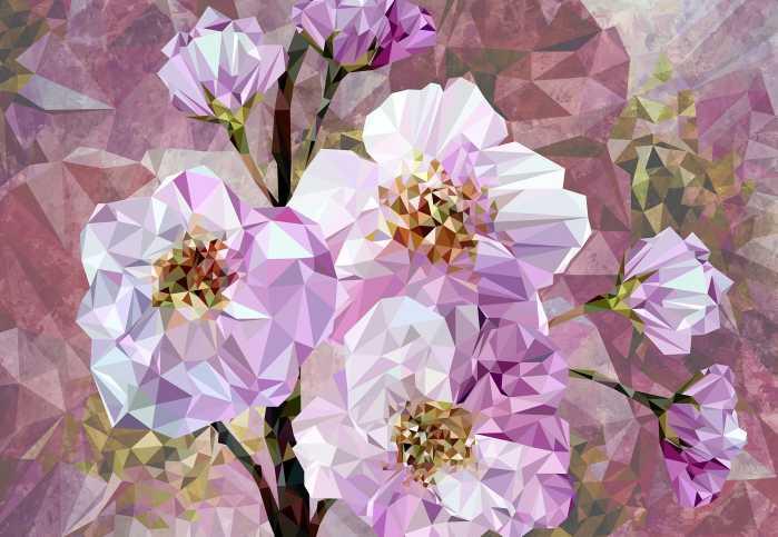 Vliestapete Blooming Gems