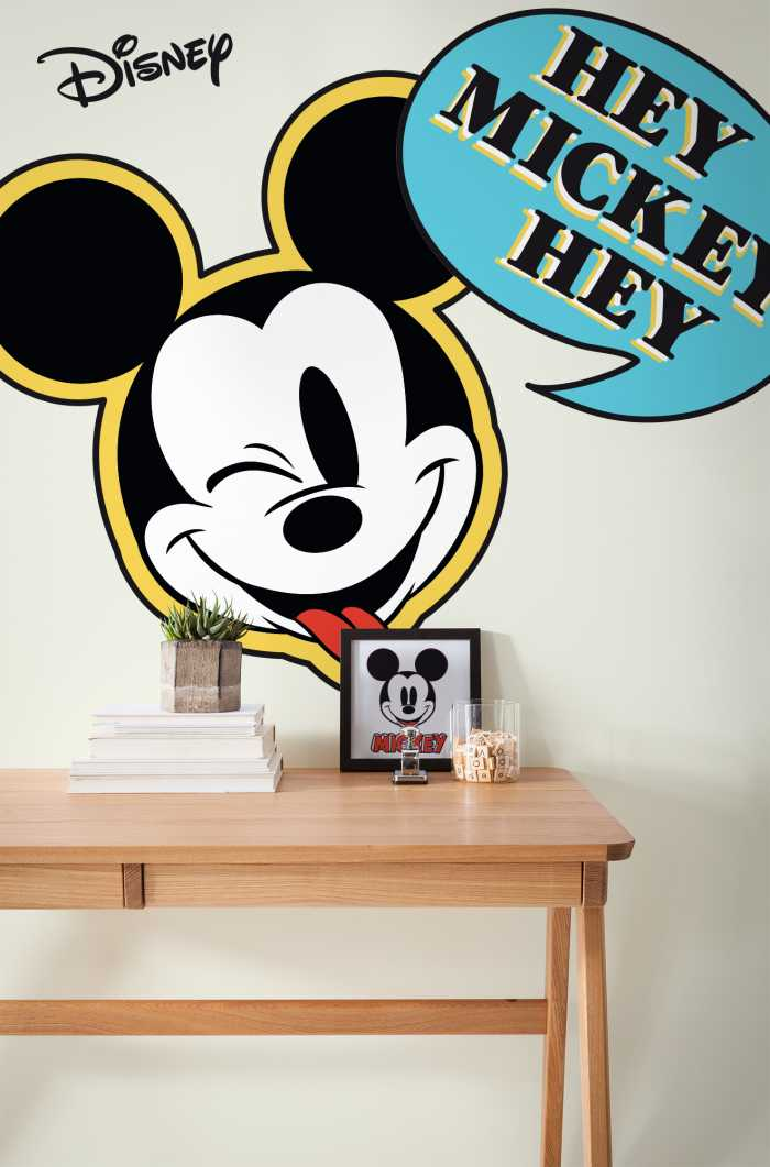 Wandtattoo Mickey Hey XXL
