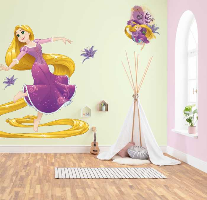 Wandtattoo Rapunzel XXL