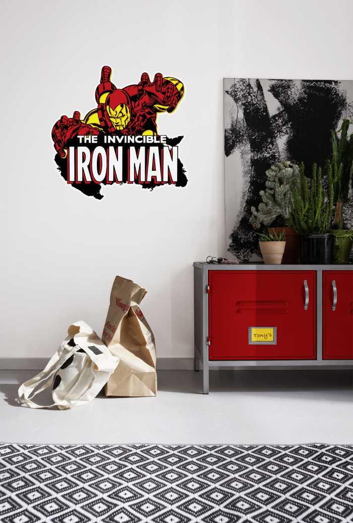 Wandtattoo Iron Man Comic Classic