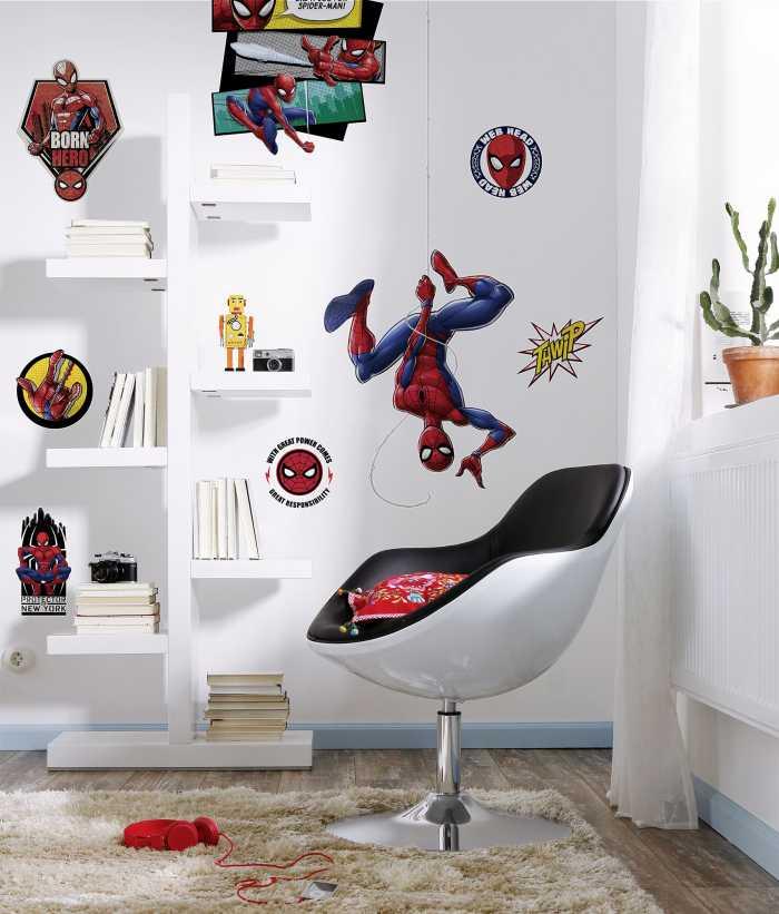 Wandtattoo Spider-Man Web Head