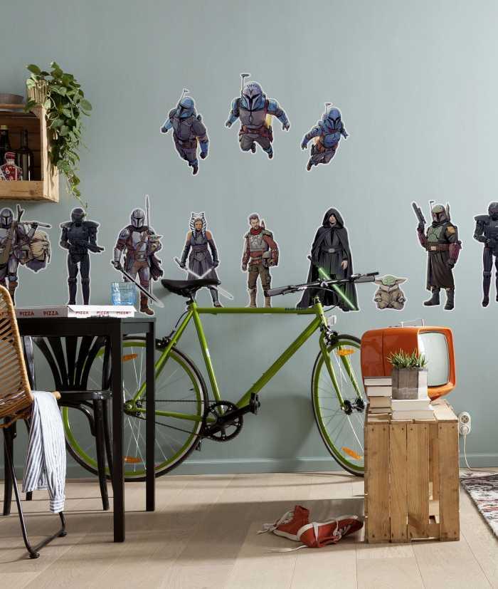 Wandtattoo Mandalorian Iconic Figures