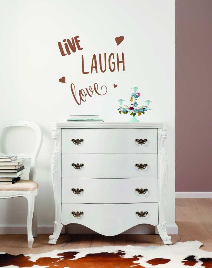 Wandtattoo Live Laugh Love