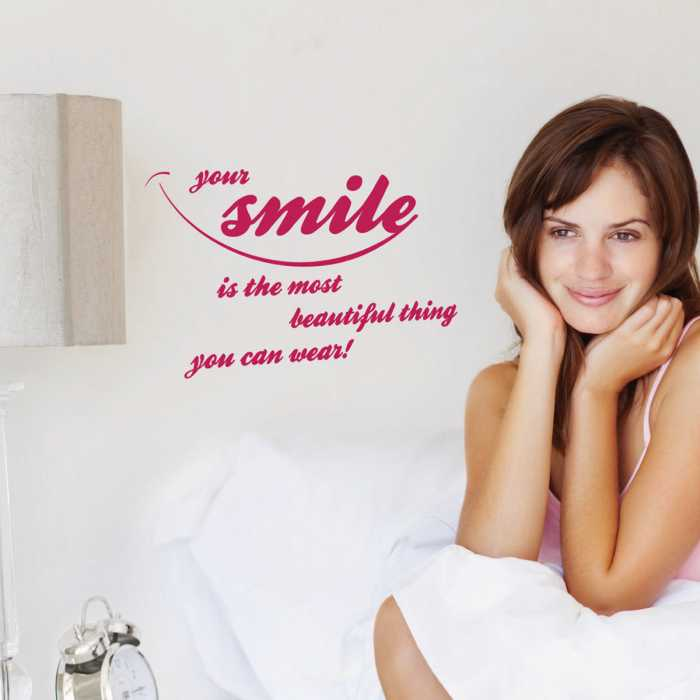 Wandtattoo Your smile