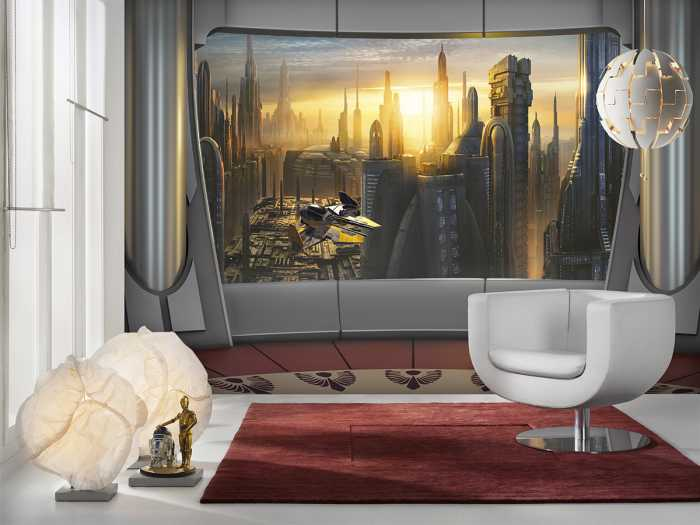 Fototapete Star Wars Coruscant View