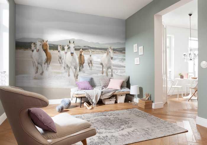 Fototapete White Horses