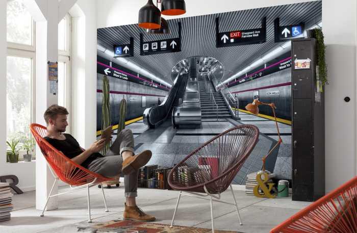 Fototapete Subway im Jugendzimmer: Großstadtfeeling garantiert