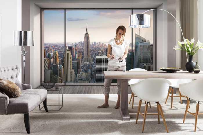 Fototapete für das Wohnzimmer: Fenster nach New York