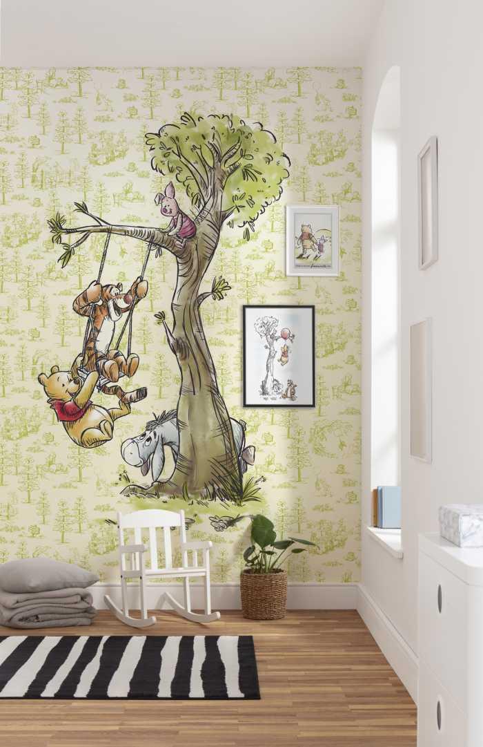 Digitaldrucktapete Winnie Pooh in the wood