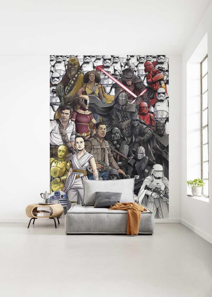 Digitaldrucktapete Star Wars Retro Cartoon