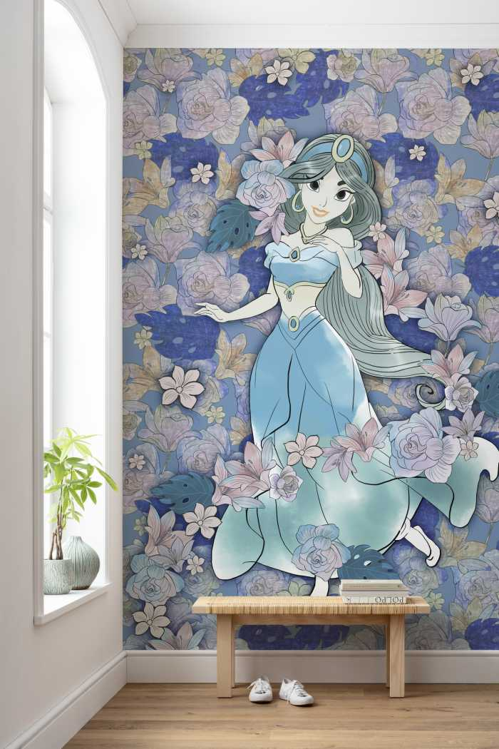 Digitaldrucktapete Jasmin Colored Flowers