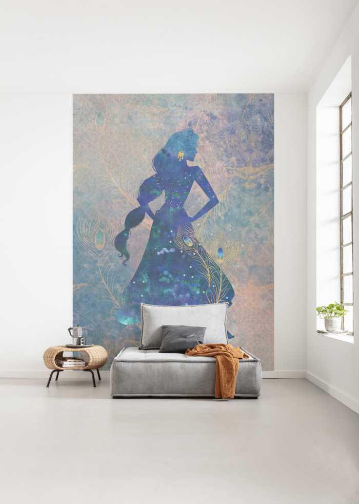 Digitaldrucktapete Jasmin Silhouette