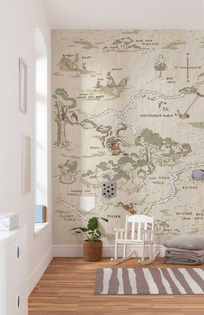Digitaldrucktapete Winnie Pooh Map