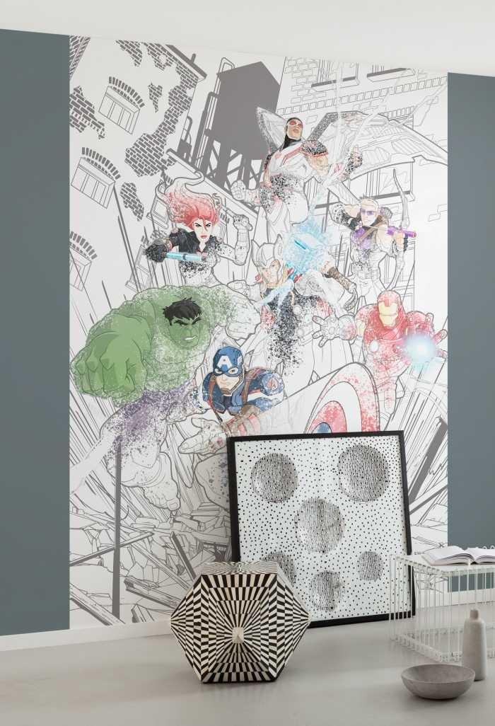 Digitaldrucktapete Avengers Attack