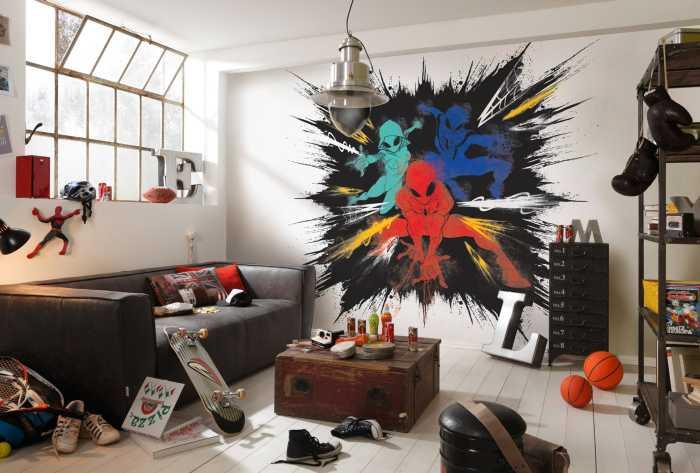 Digitaldrucktapete Spider-Man Color Explosion