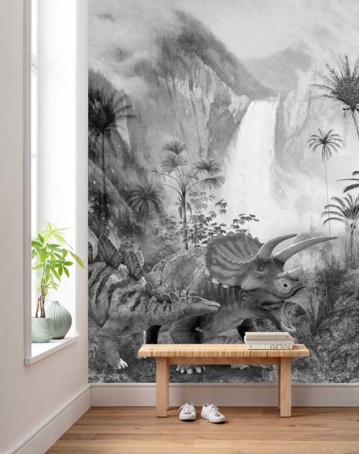 Digitaldrucktapete Jurassic Waterfall