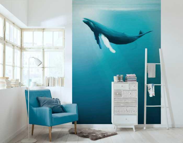 Digitaldrucktapete Artsy Humpback Whale