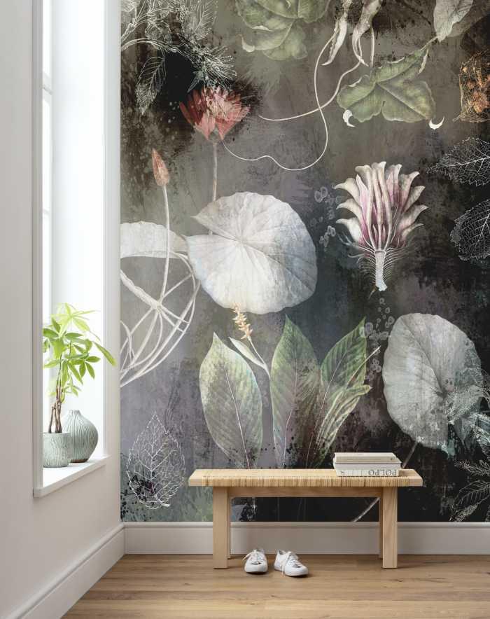 Digitaldrucktapete Night Flowers