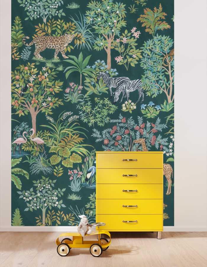 Digitaldrucktapete Happy Jungle