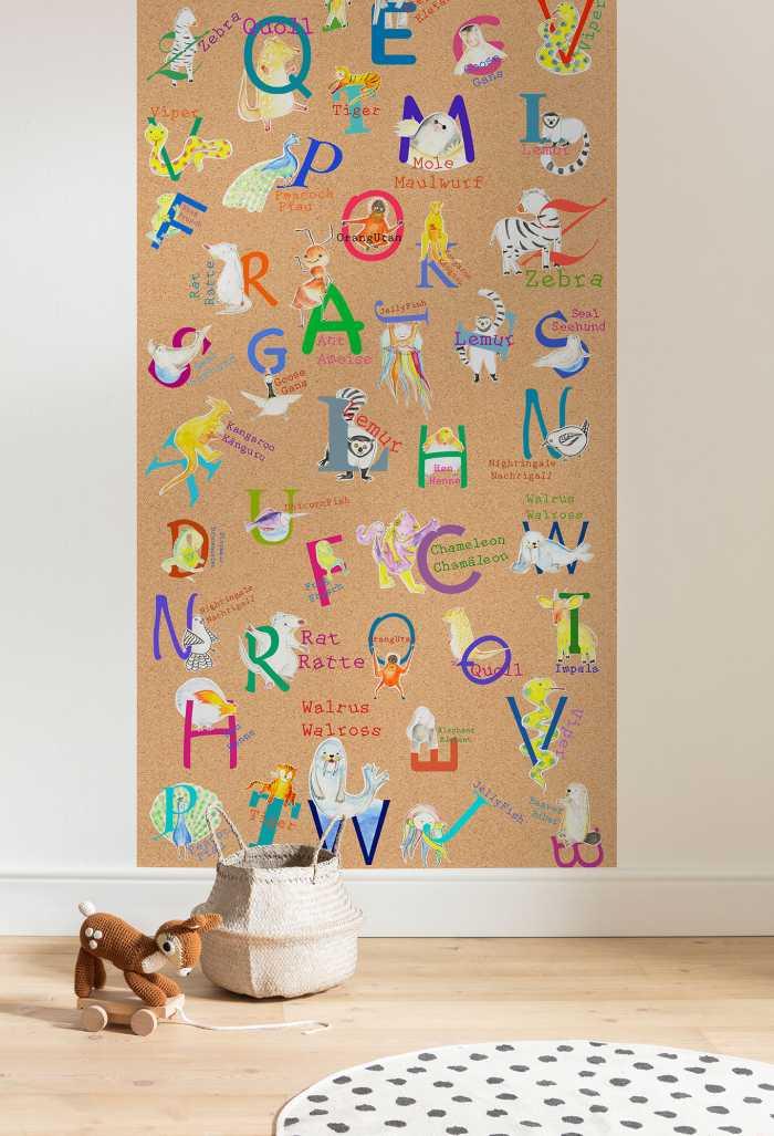 Digitaldrucktapete Animals A-Z