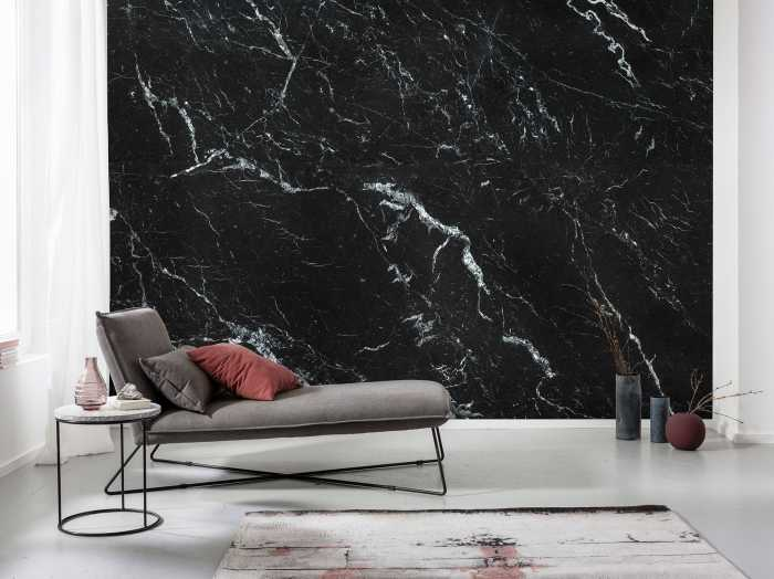Digitaldrucktapete Marble Nero