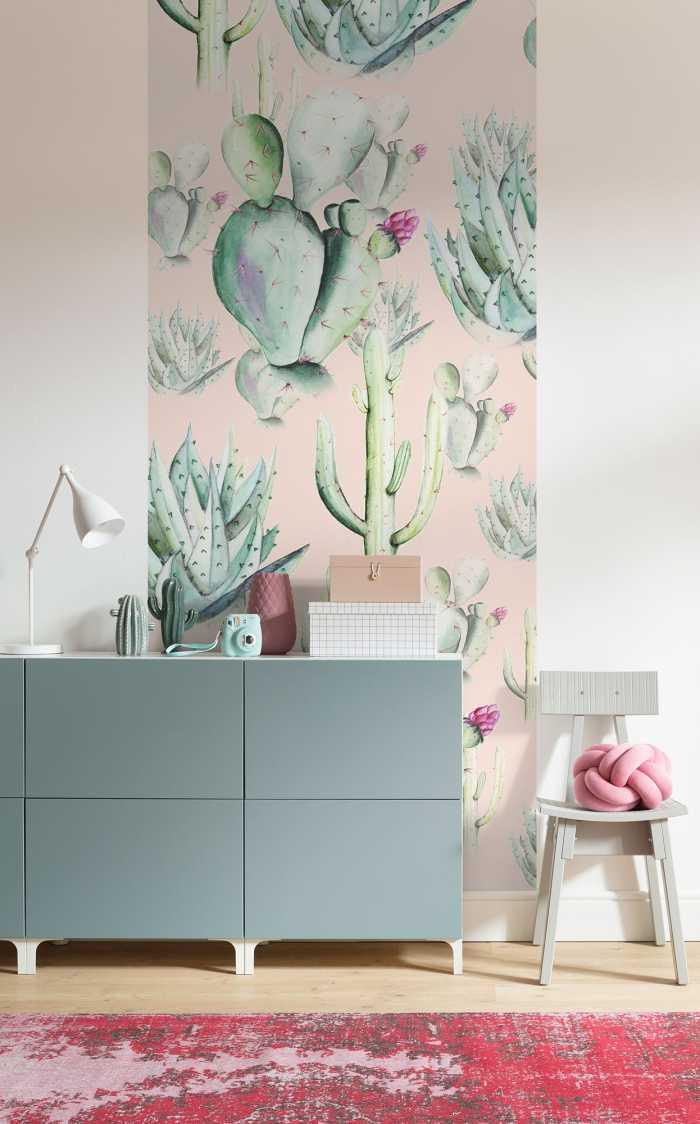 Digitaldrucktapete Cactus Rose